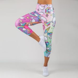 New Style Summer Fashion Elastic Force Polyester Fitness Ladies Leggings Workout Breathable Sporting Skinny Leggings For Women טייץ מצויר
